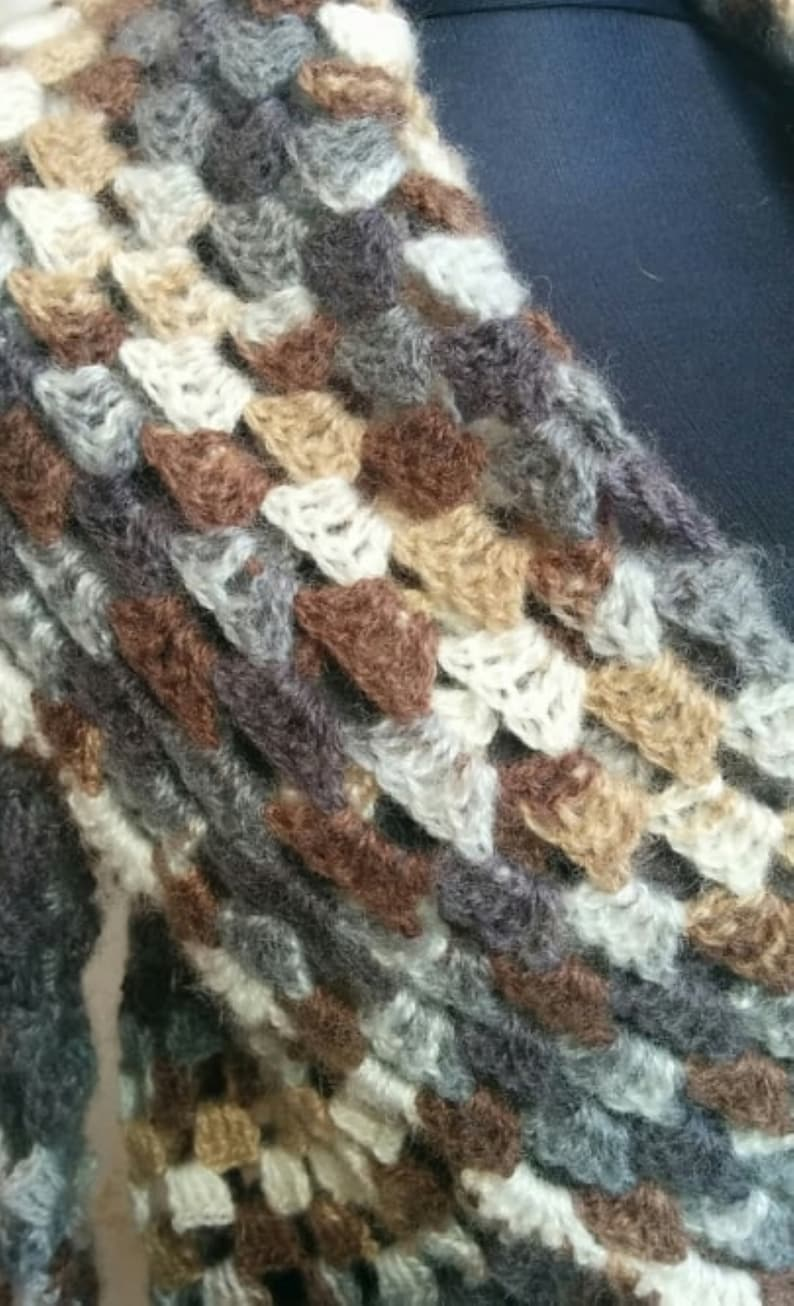 Ladies Cardigan Shawl Handmade Loose Fit Hand Knit Winter Pullover Warm Jumper Wool Acrylic Crochet Custom