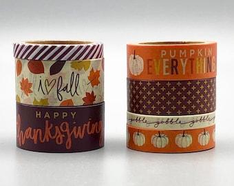 Autumn Brown Pumpkin Pattern Washi Tape 15mm x 10m