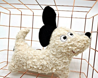 Organic stuffed toy dog - fluent cuddly toy dachshund, gift for birth, baby, birthday, sustainable