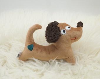 Stuffed Toy Dog - Fluent Cuddly Toy Babyshower, Gift for Birth, Baby, Birthday, Sustainable