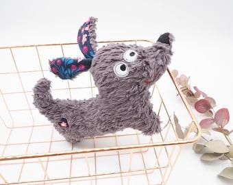 Organic stuffed dog - fluffy cuddly toy dachshund, gift for birth, baby, birthday, sustainable