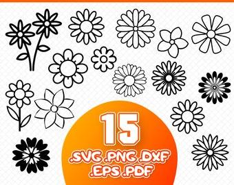 Daisy flower svg | Etsy