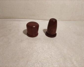 Noble Salt and Pepper Wood Walnut Spreader Denmark Danish Salt Shaker Pepper Shaker vintage Duo Salt and Pepper