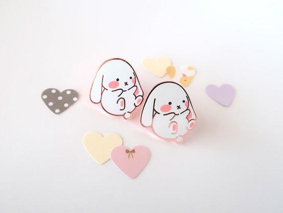 Kawaii Bunny Enamel Pins Cute Bunny Pin Kawaii Pins 2jing Etsy