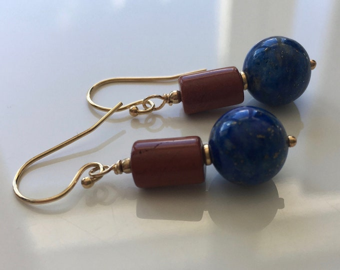Lapis lazuli and Jasper earrings