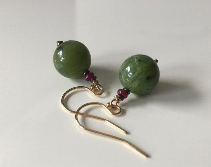 Jade and Rubi Earrings