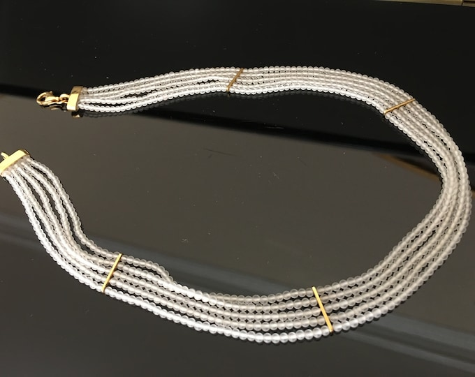 Crystal Quartz Necklace with 18kt gold