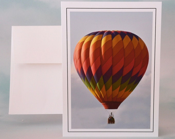 Hot Air Balloon Photo Note Card - Blank All Occasion - Greeting Card