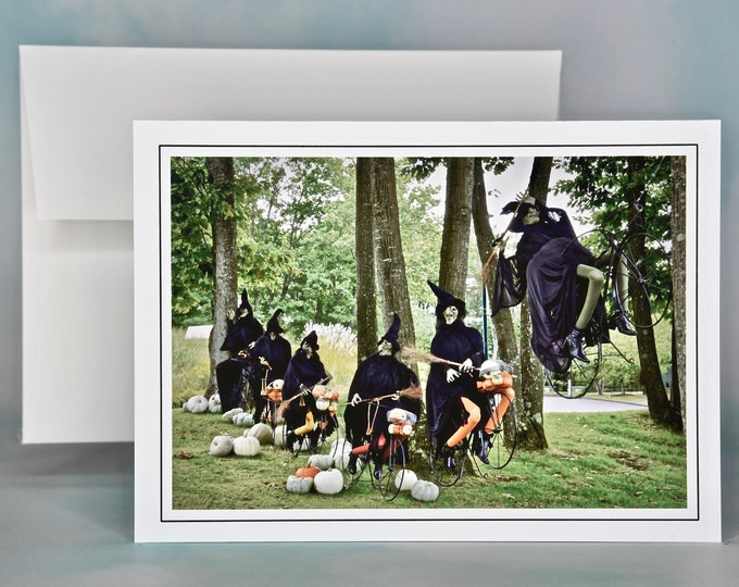 Autumn - Fall Photo Note Card - Blank Note Card - Six Witches