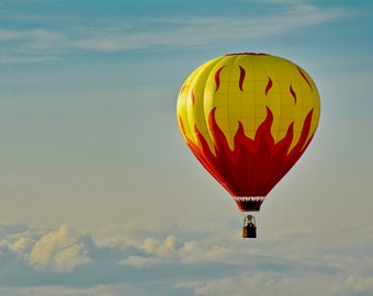 Hot Air Balloon - Above The Clouds - Print or Note Card