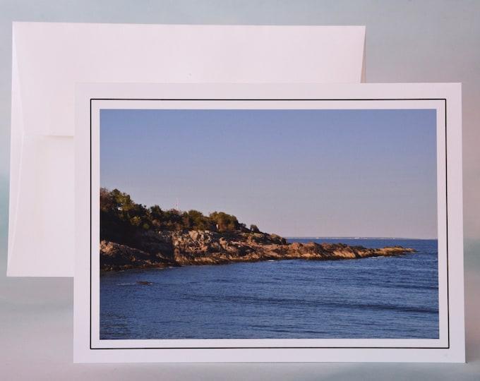 Coastal Photo Note Card - Blank Note Card - Cove at Rest - Maine Coast