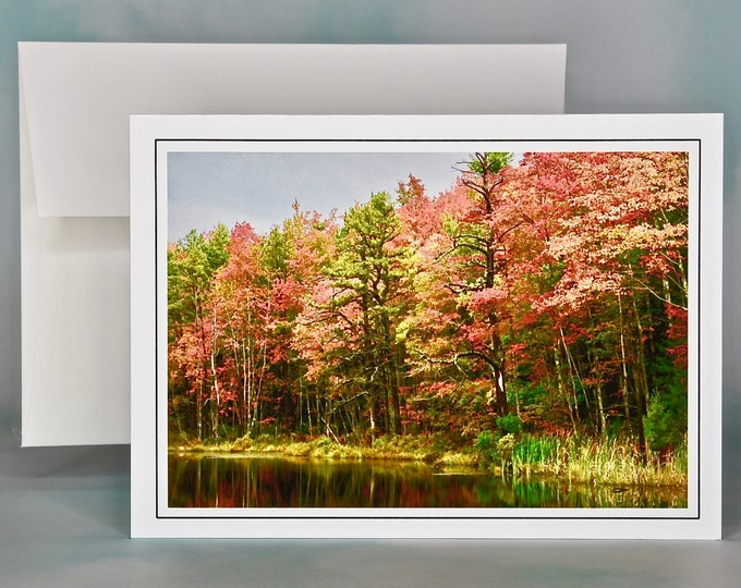 Autumn - Fall Photo Note Card - Blank Note Card - Fall Foliage