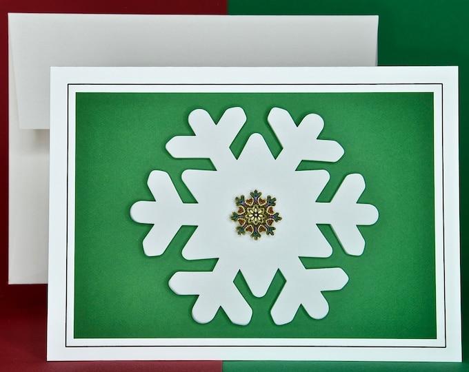 Christmas Holiday Card SAVE! - Buy MORE and SAVE - Flake on a Flake!