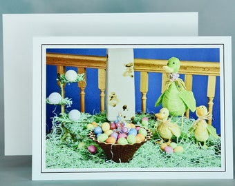 Easter Spring Note Card - Blank Note Card - Easter Greeting Card