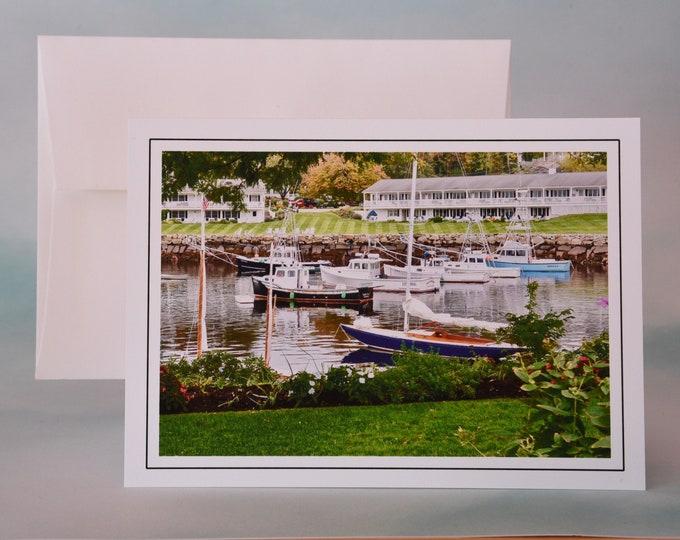 Coastal Photo Note Card - Blank Note Card - Perkin's Cove View - Maine