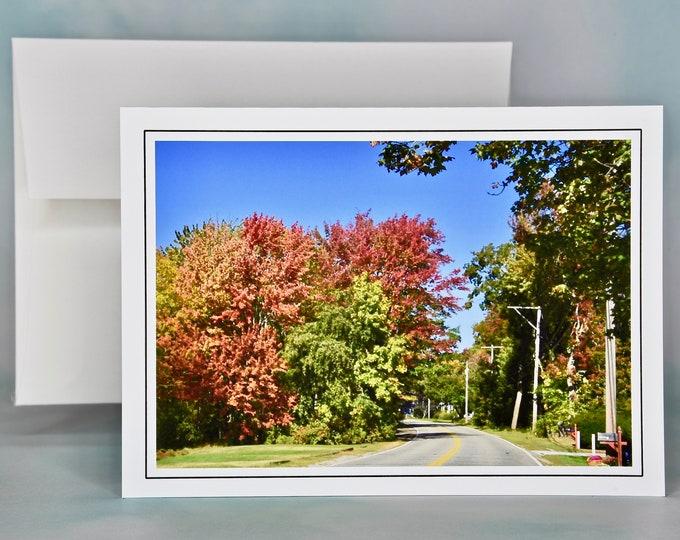 Autumn - Fall Photo Note Card - Blank Note Card - An Autumn Drive