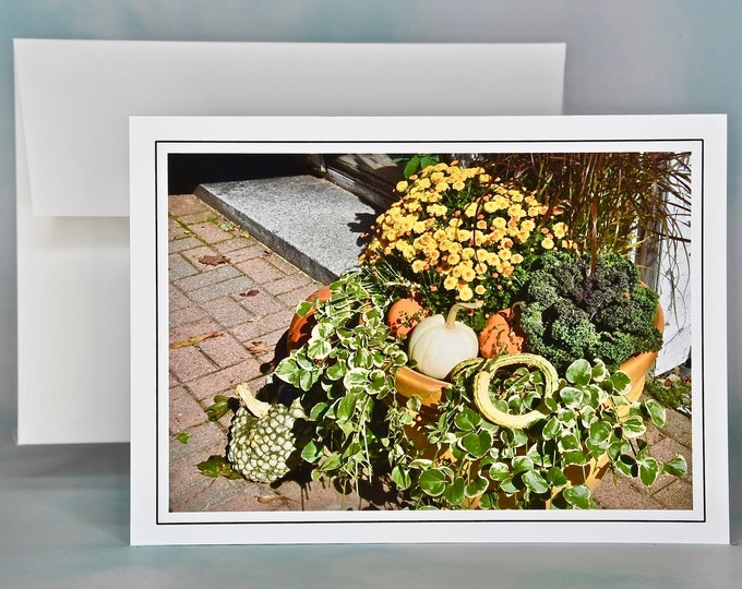 Autumn - Fall Photo Note Card - Blank Note Card - Pumpkins, Gourds and More