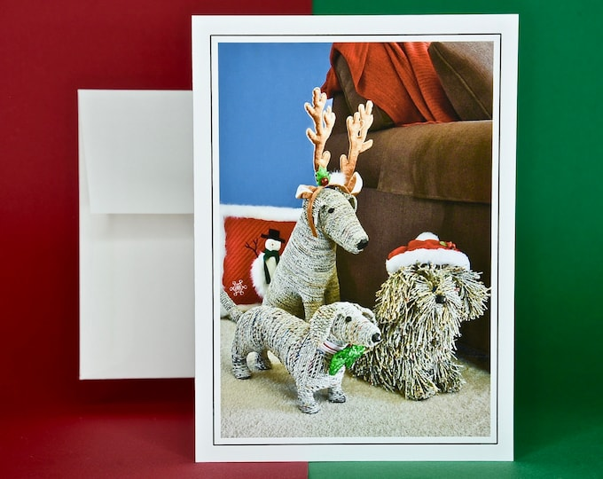 Christmas Holiday Card SAVE! - Buy MORE and SAVE - Three Pals Ready for Christmas