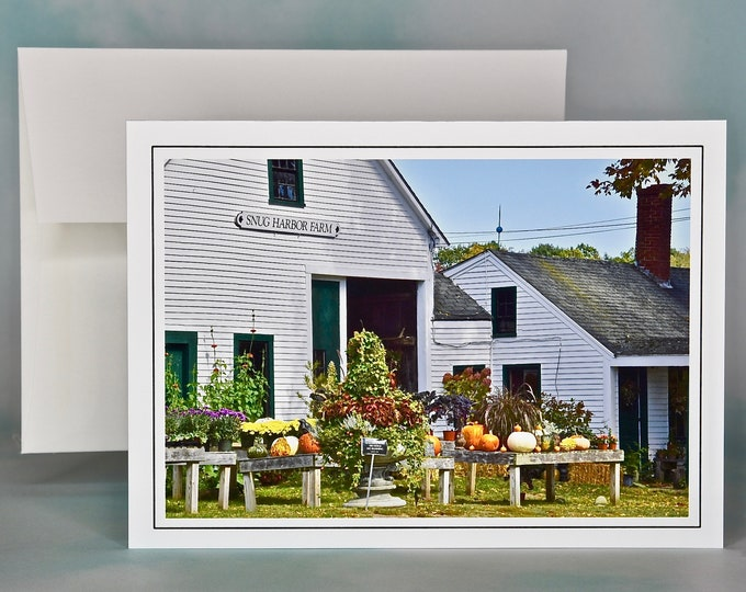 Autumn - Fall Photo Note Card - Blank Note Card - Farmstand Harvest