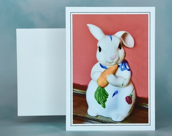 Easter Spring Note Card - Blank Note Card - Easter Greeting Card - Easter Bunny