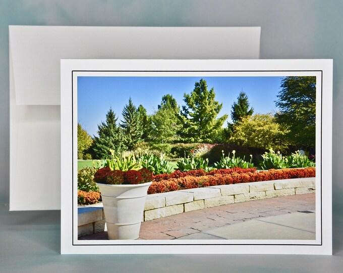 Autumn - Fall Photo Note Card - Blank Note Card - Border Garden