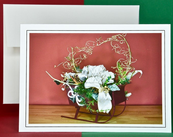 Christmas Holiday Card SAVE! - Buy MORE and SAVE - Sleight Full of Holiday Sprirt - Red Variation