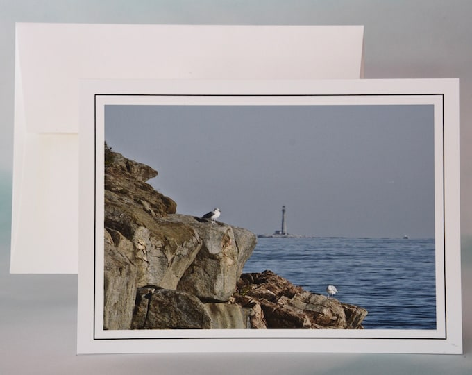 Coastal Photo Note Card - Blank Note card - Lighthouse View