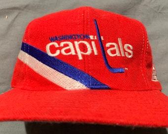28545e15550914 NWOT Vintage Washington Capitals Snapback Hat by Apex One