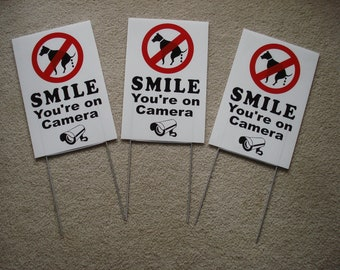 """NO DOG POOP   8/""""X 8/"""" Plastic Coroplast Sign with Grommets  NEW"""