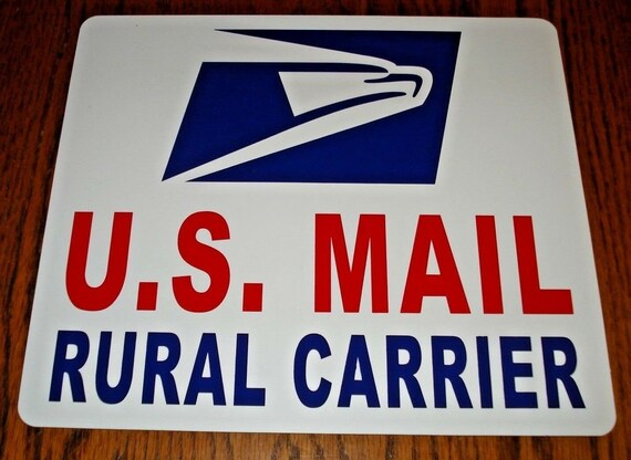 """8/"""" X 12/"""" PLUS 2 FREQUENT STOPS 2 3/"""" X 12/"""" U.S MAIL Magnetic Signs USPS"""