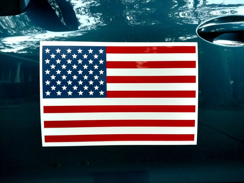 1 AMERICAN US FLAG  Magnetic Sign Larger 12x18 Silk Screen Printed  Free Shipping!
