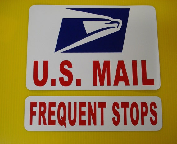 """Mail Frequent Stops 5/"""" tall 45/"""" long Car Window Decal HM1642 Thatlilcabin U.S"""