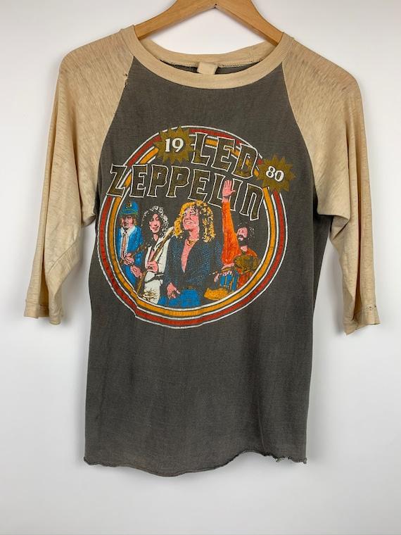 Vintage Led Zeppelin 1980 Bonzo Band Tour T Shirt