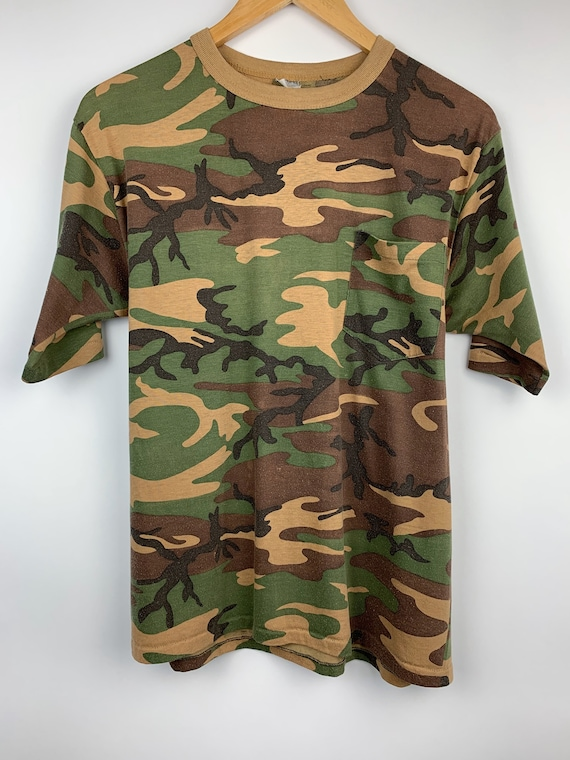 Vintage Camouflage 1980's T Shirt