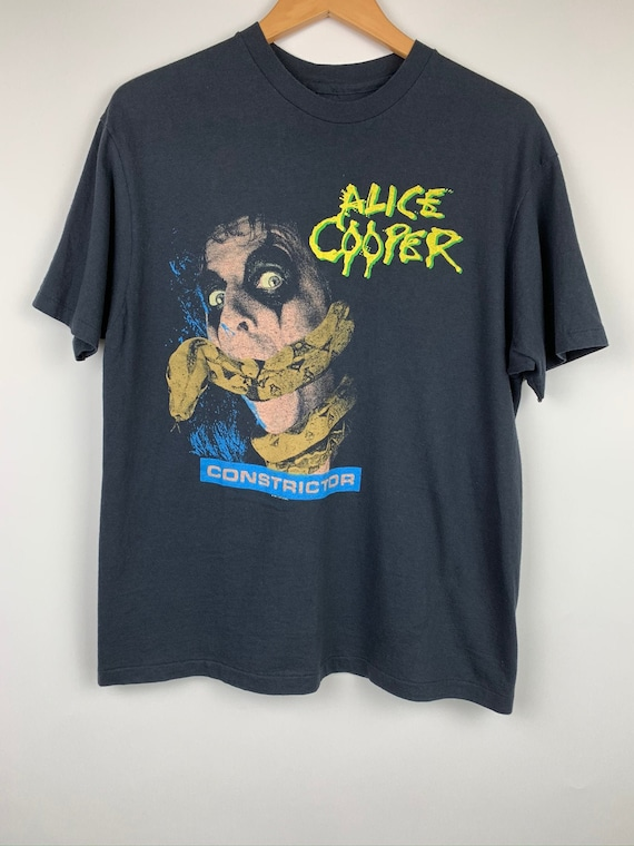 Vintage Alice Cooper Constrictor 1986 Band Tour T