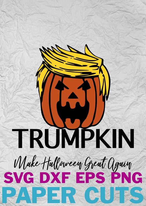 Trumpkin Trump Pumpkin Make Halloween Great Again Etsy