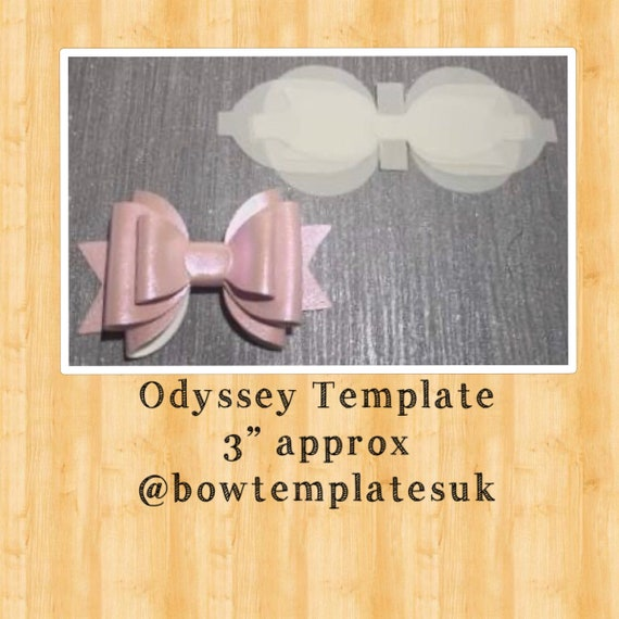 3 inch Plastic Hair bow template 3D Bow make your own hair bows