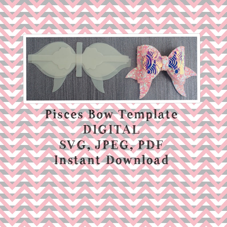 digital bow template bow cut file Bow template silhouette bow template hair bow template cricut bow bow template svg bow svg