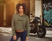 Clevr | Women's Crop Hoodie