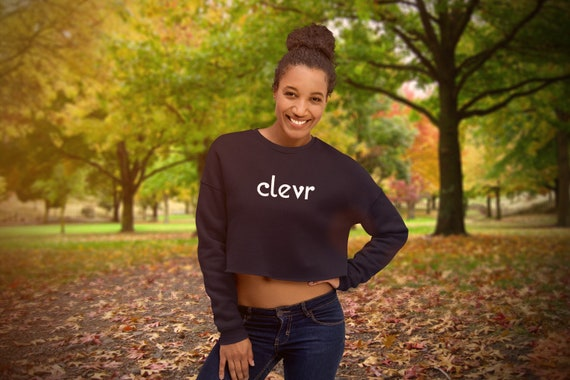 Clevr | Women's Crop Sweatshirt