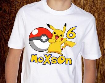 6410777178e3a Pikachu shirt, Pokemon t-shirt kids, men's and women's shirt, clothing,  unisex t-shirt, birthday gift,P031