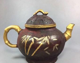 Ceramic handmade flower design outsourcing Tibetan silver animal wine pot.