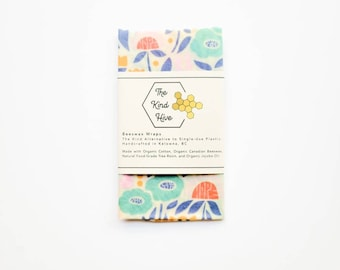 Organic Beeswax Wrap - 10x10 Garden Party