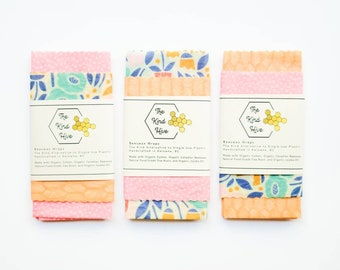 Organic Beeswax Wraps - 3-pack