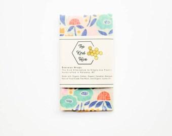 Organic Beeswax Wrap - 11x15 Garden Party