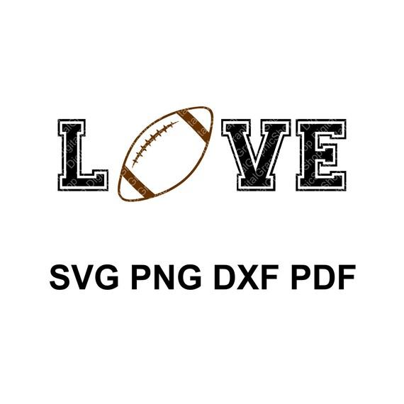 Football Love Svg Ball Svg Football Mom Shirt Sports Etsy