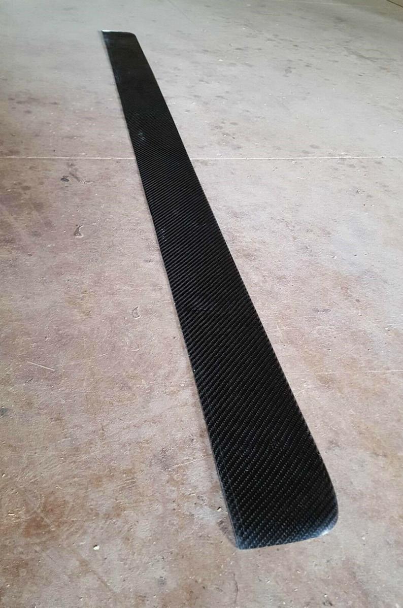 Universal 205cm carbon fiber side steps  side skirt extensions performance v6