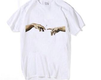 53d0df671b23 Unisex Michelangelo Cigarette T-shirts