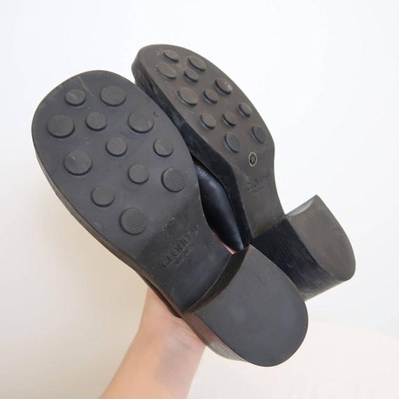 Vintage 90s Nine West black leather chunky mules 8 - image 8