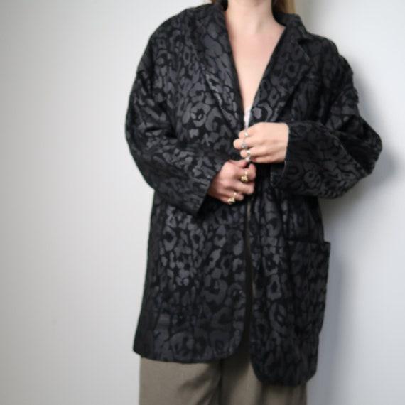 Vintage 80's leopard leather jacket